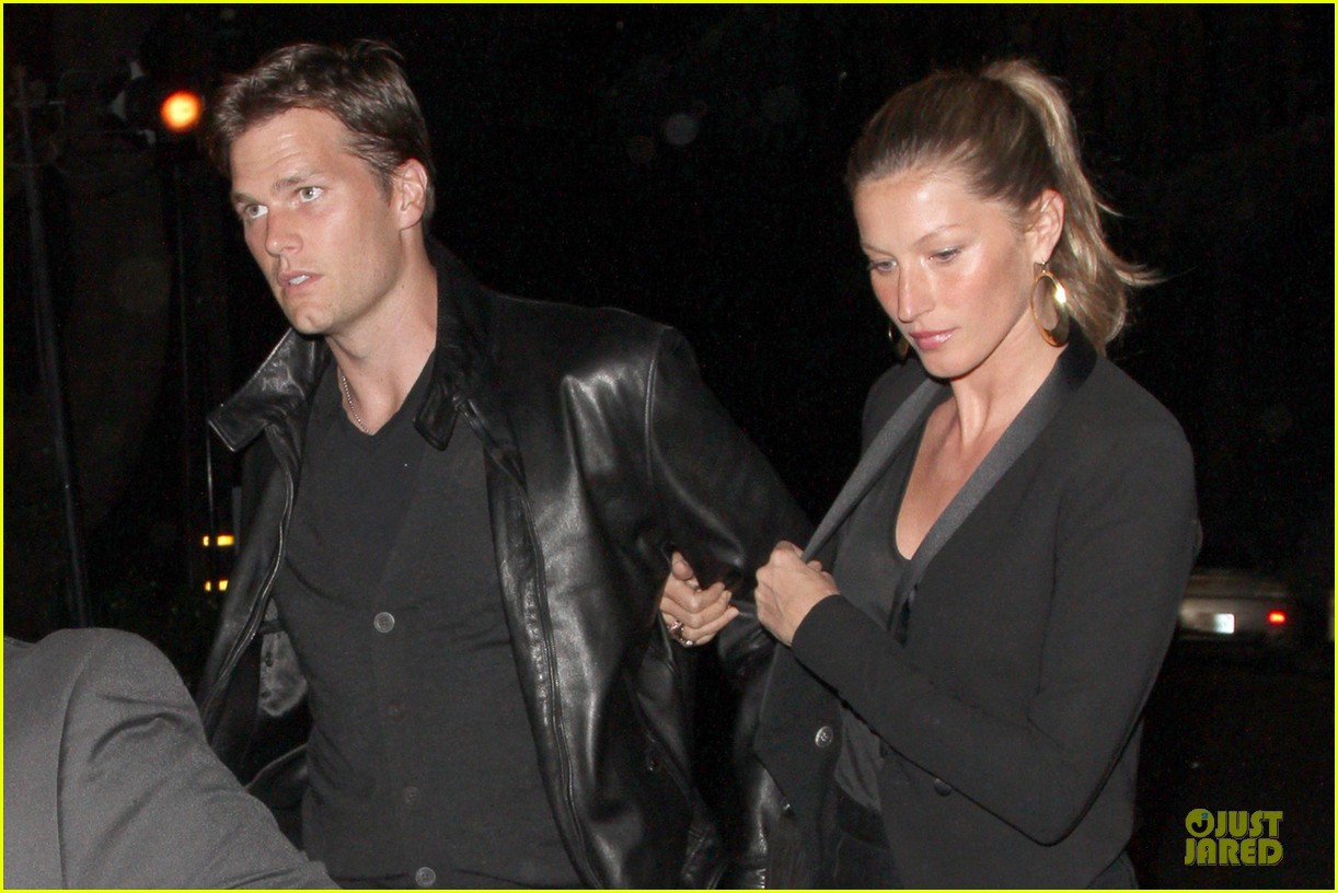 gisele bundchen tom brady pre oscar party in brentwood 042817677