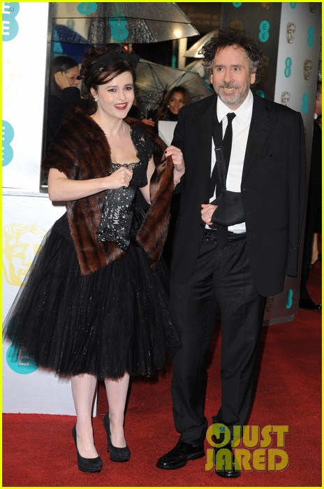 tim burton helena bonham carter baftas 2013 red carpet 01