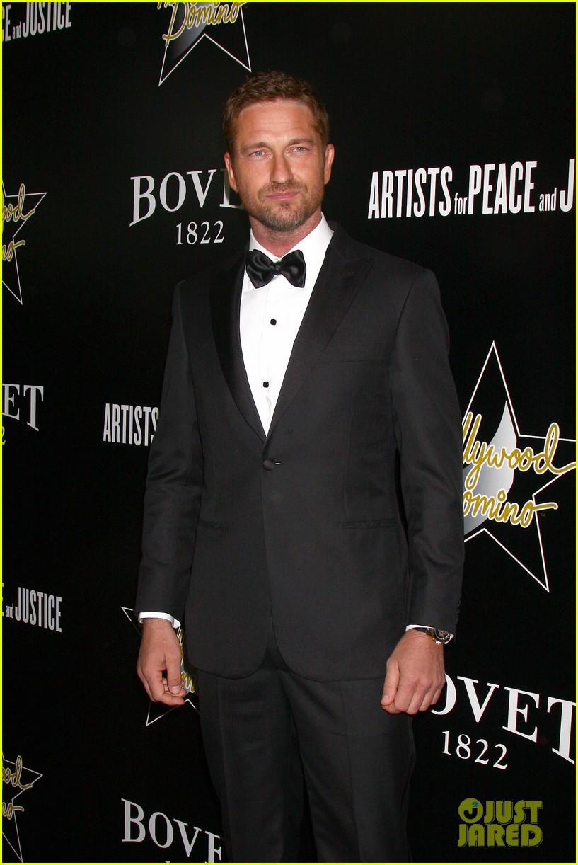 gerard butler hollywood domino pre oscar gala 08