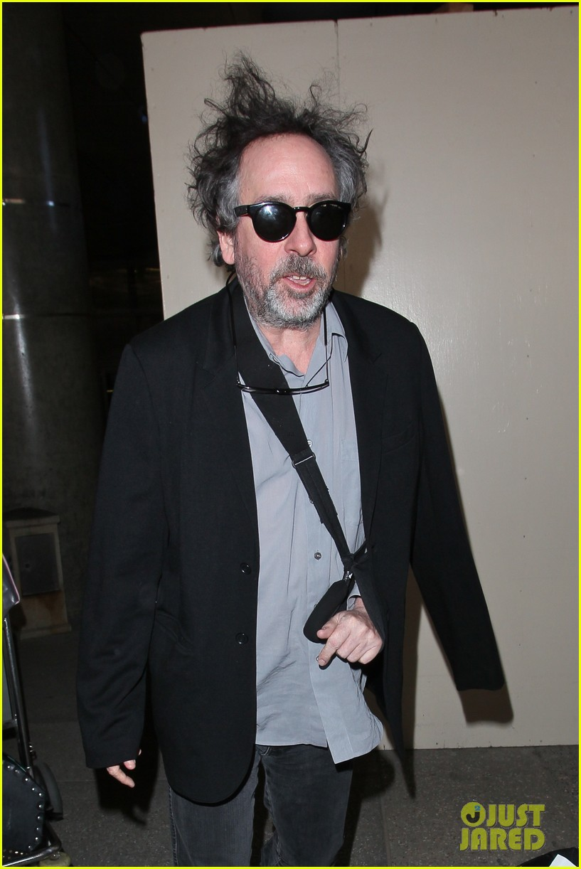 helena bonham carter tim burton arrive for oscars week 02