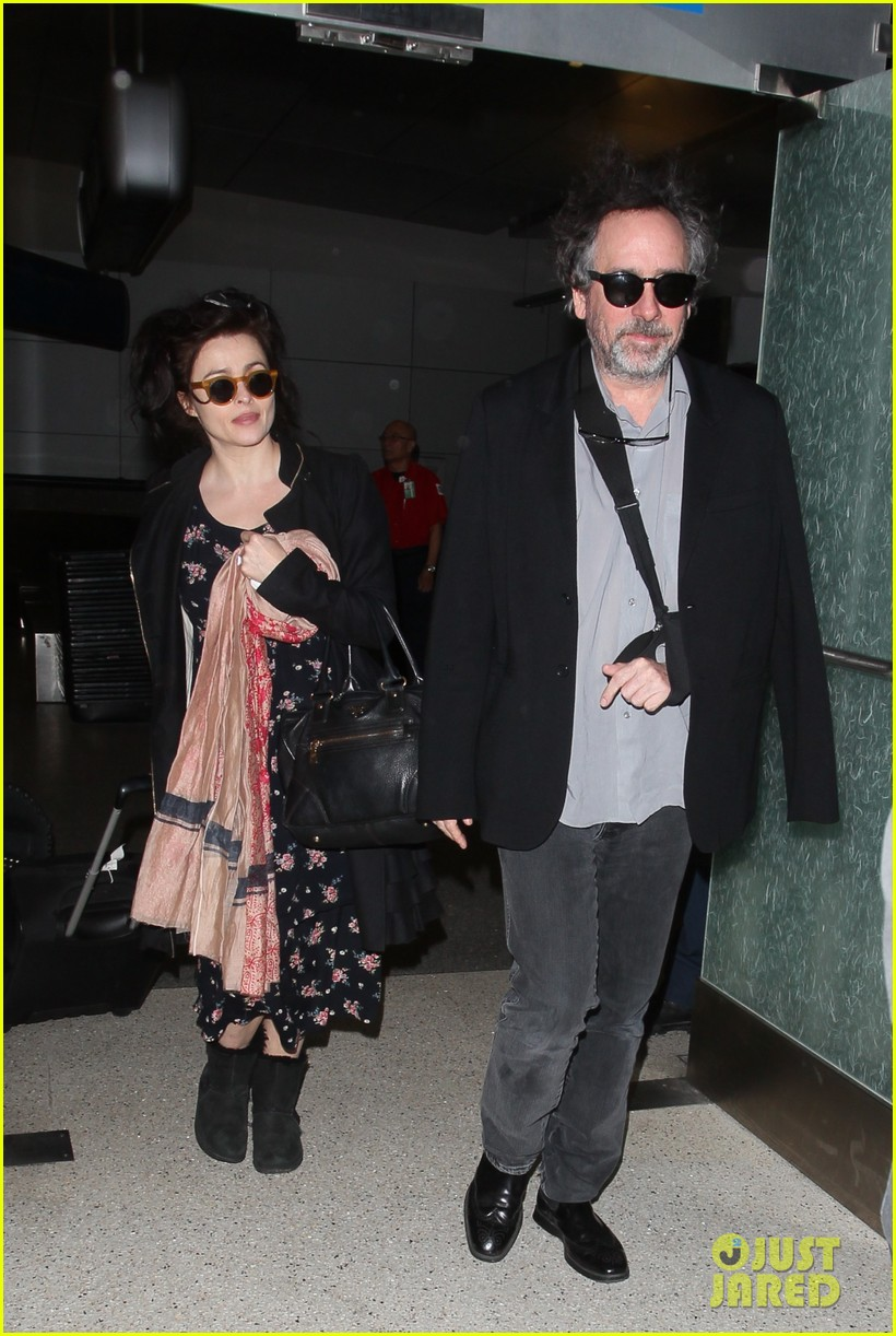 helena bonham carter tim burton arrive for oscars week 09