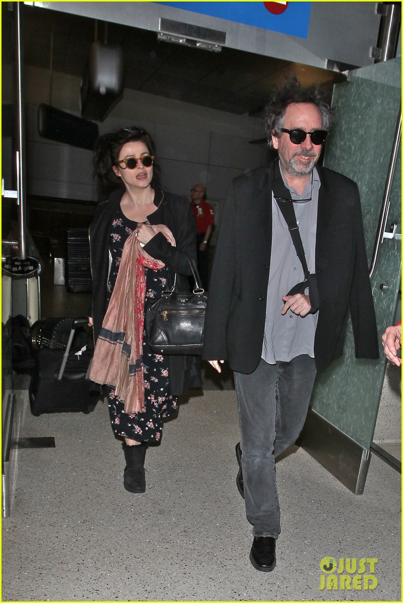 helena bonham carter tim burton arrive for oscars week 10
