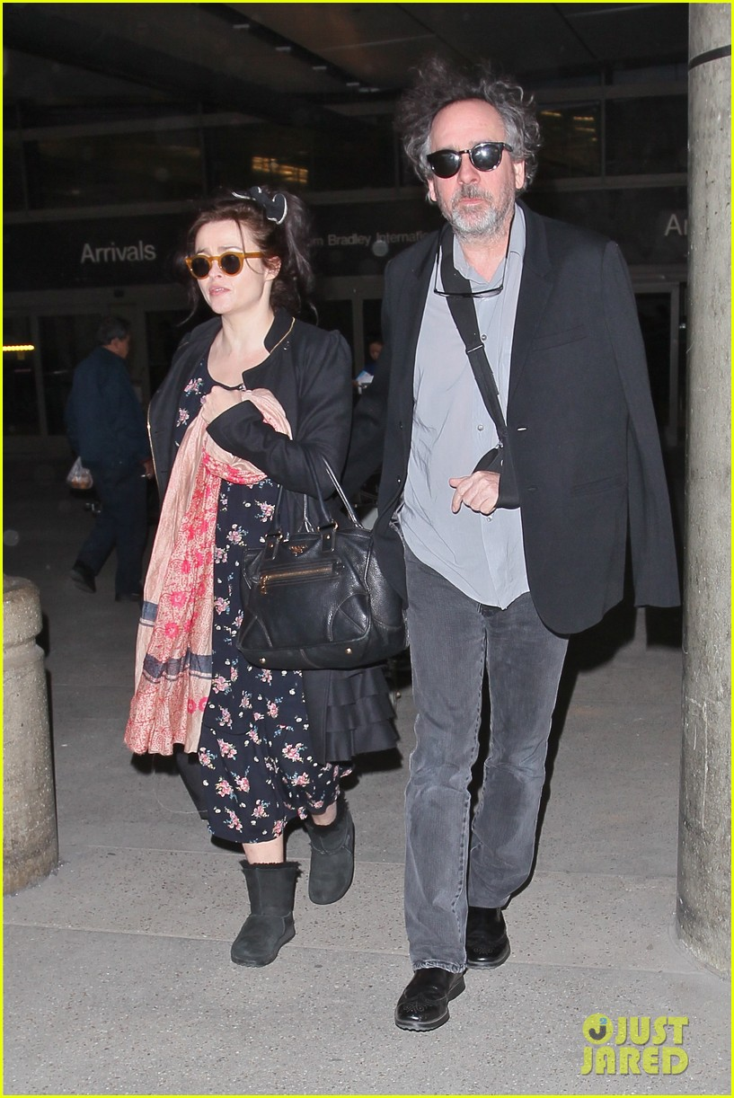 helena bonham carter tim burton arrive for oscars week 16