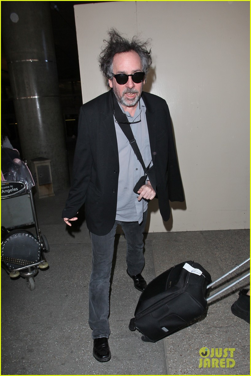 helena bonham carter tim burton arrive for oscars week 17