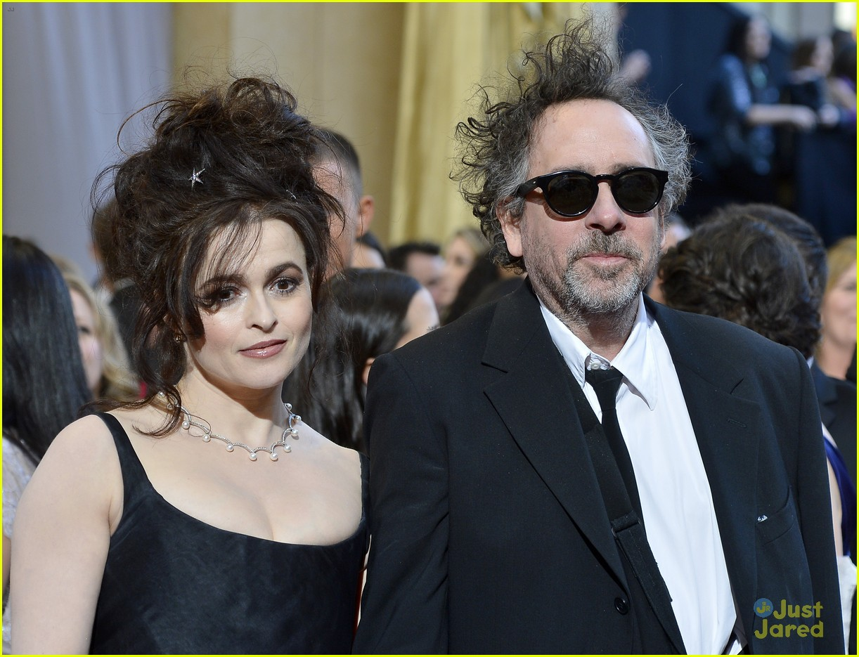 helena bonham carter tim burton oscars red carpet 2013 09