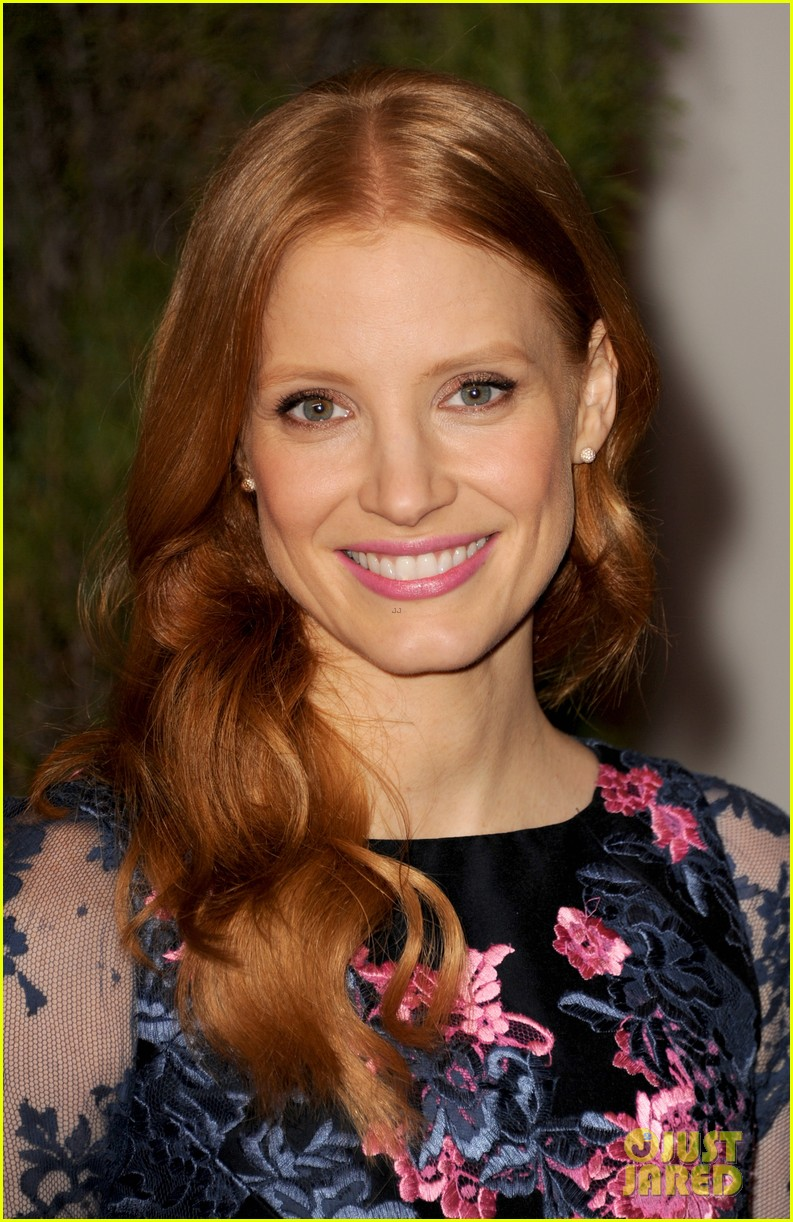 jessica chastain oscar nominees luncheon 2013 02