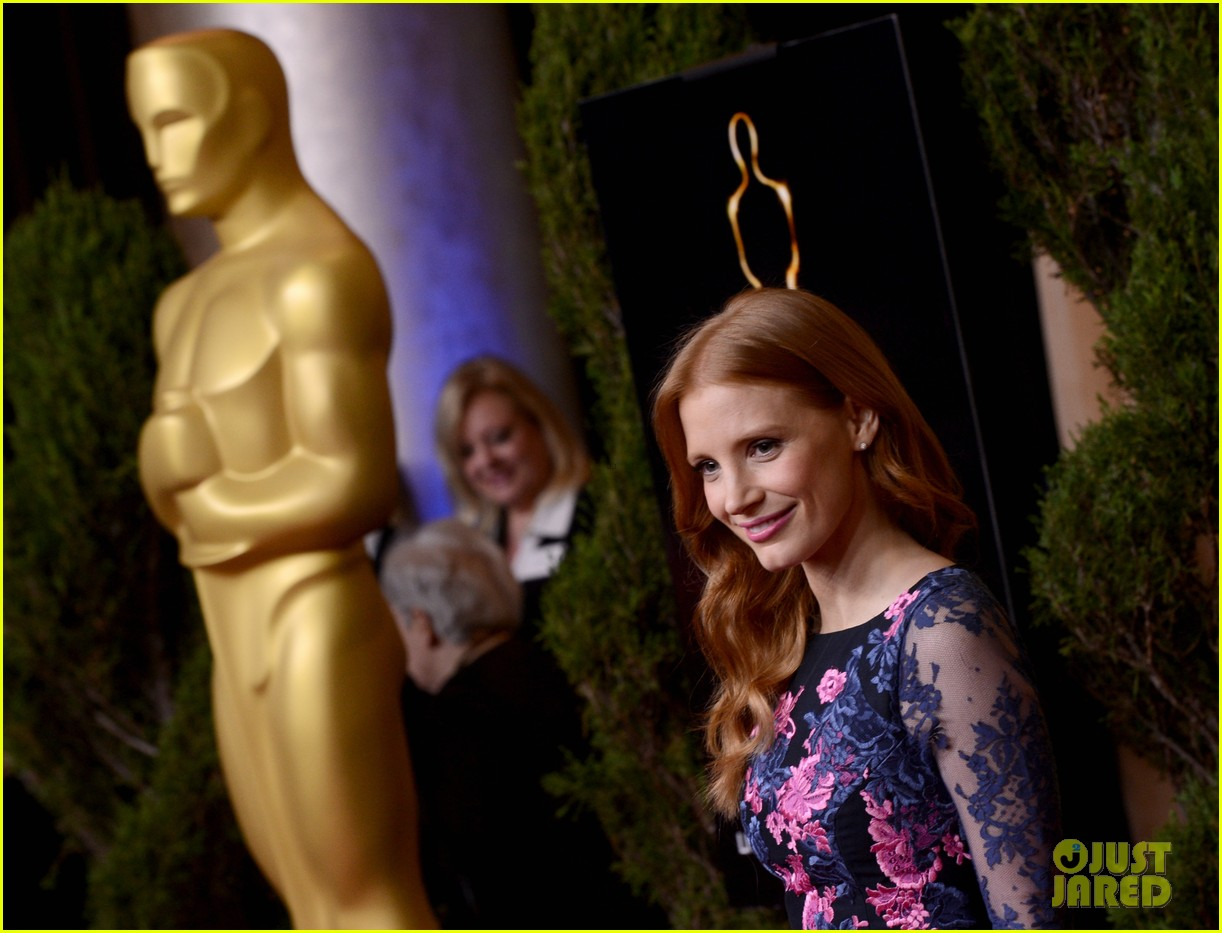 jessica chastain oscar nominees luncheon 2013 06