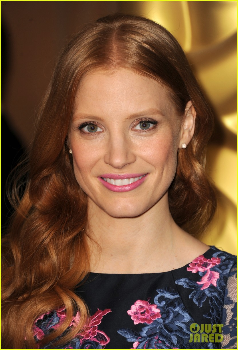 jessica chastain oscar nominees luncheon 2013 08