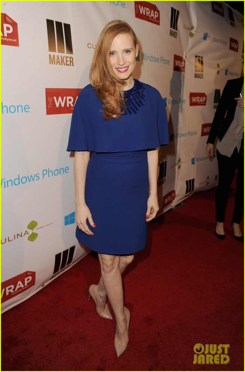 jessica chastain the wrap pre oscars party 2013 01