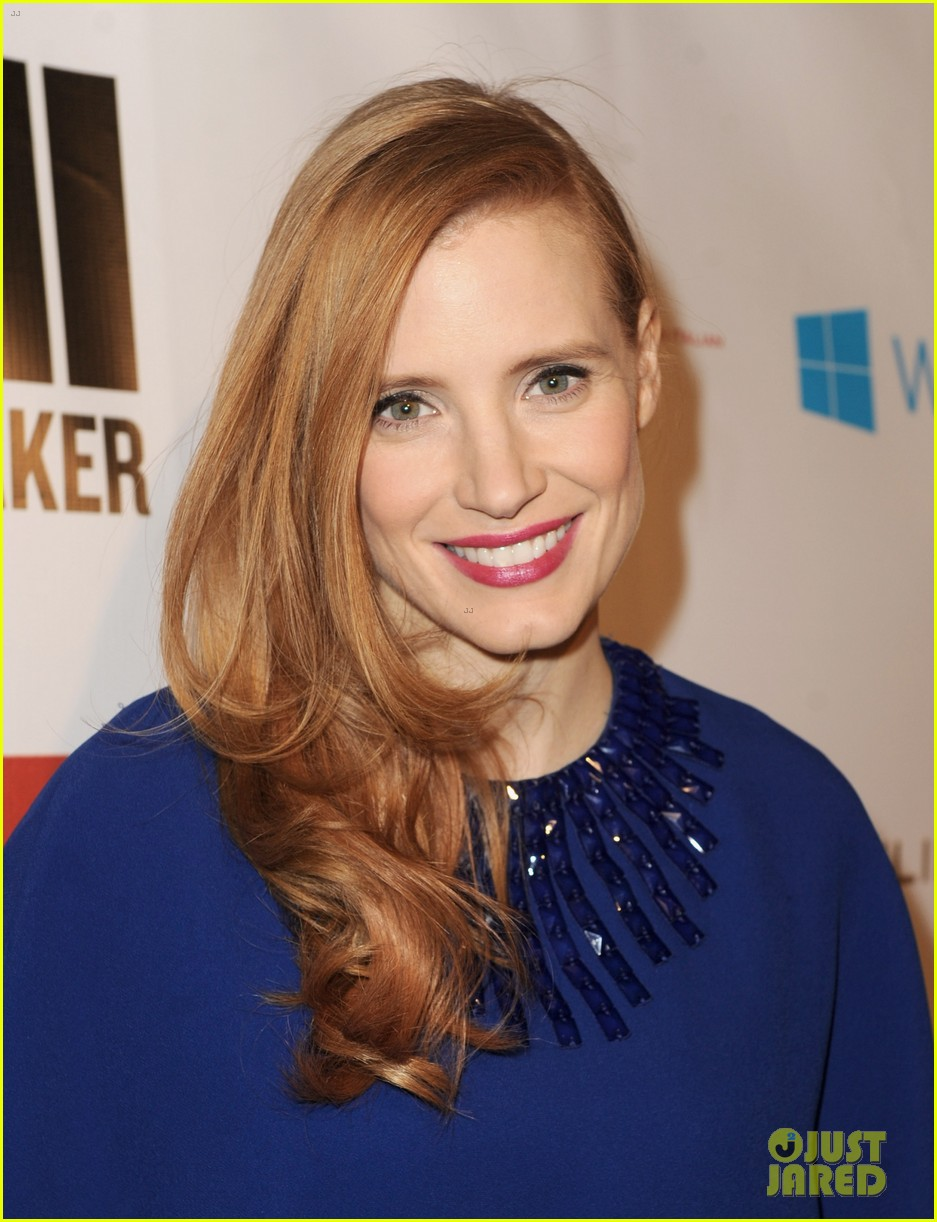 jessica chastain the wrap pre oscars party 2013 02