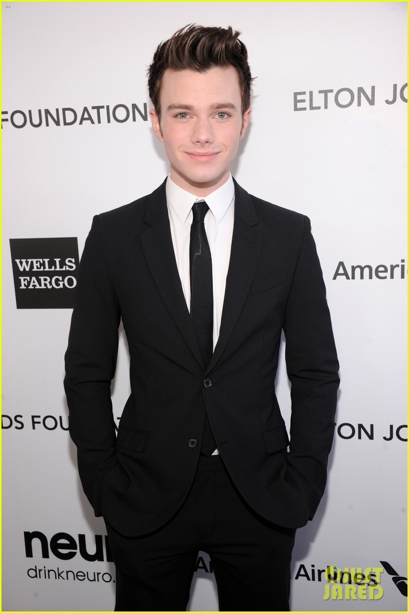 chris colfer matthew morrison elton john oscars party 2013 04
