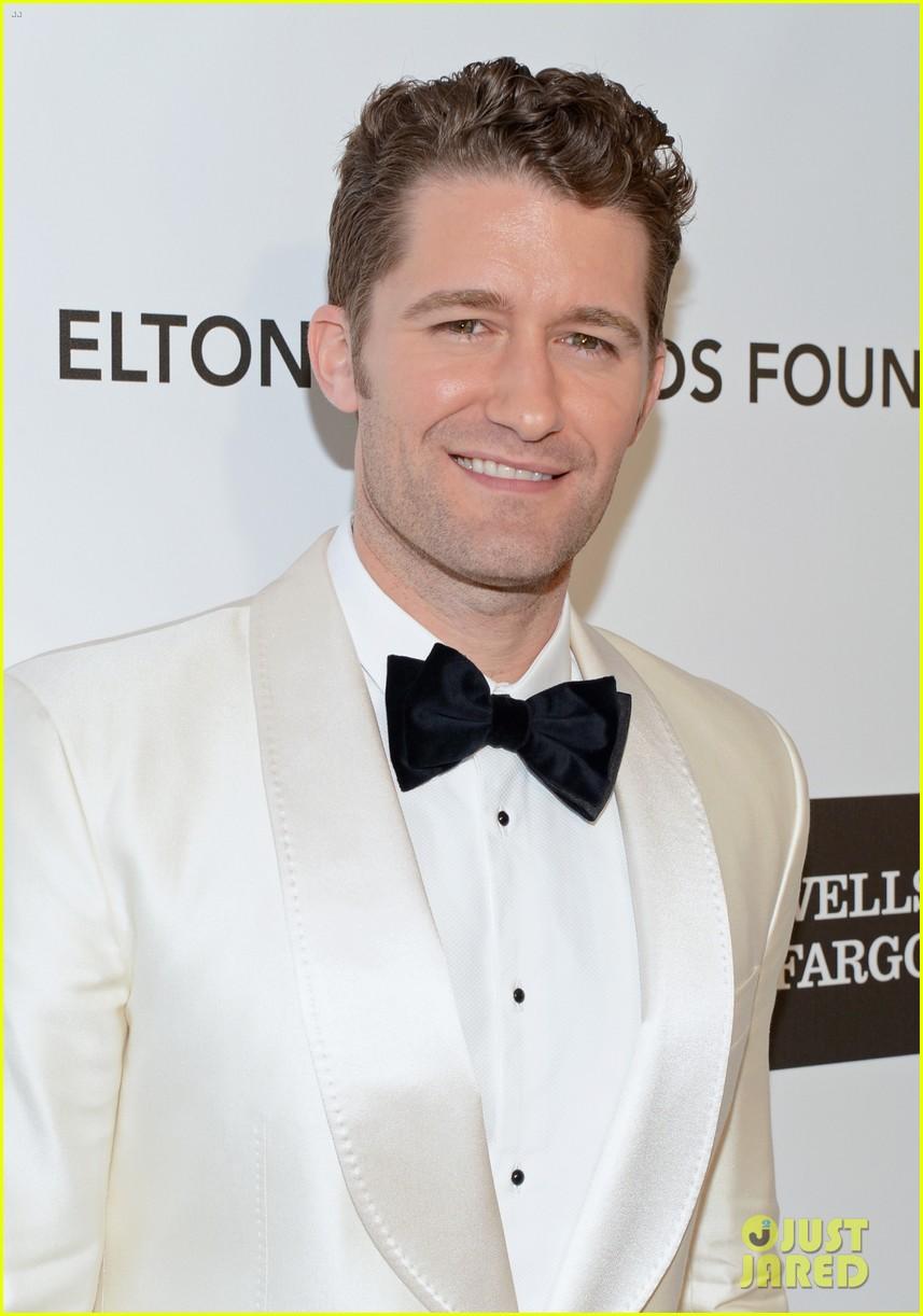 chris colfer matthew morrison elton john oscars party 2013 08