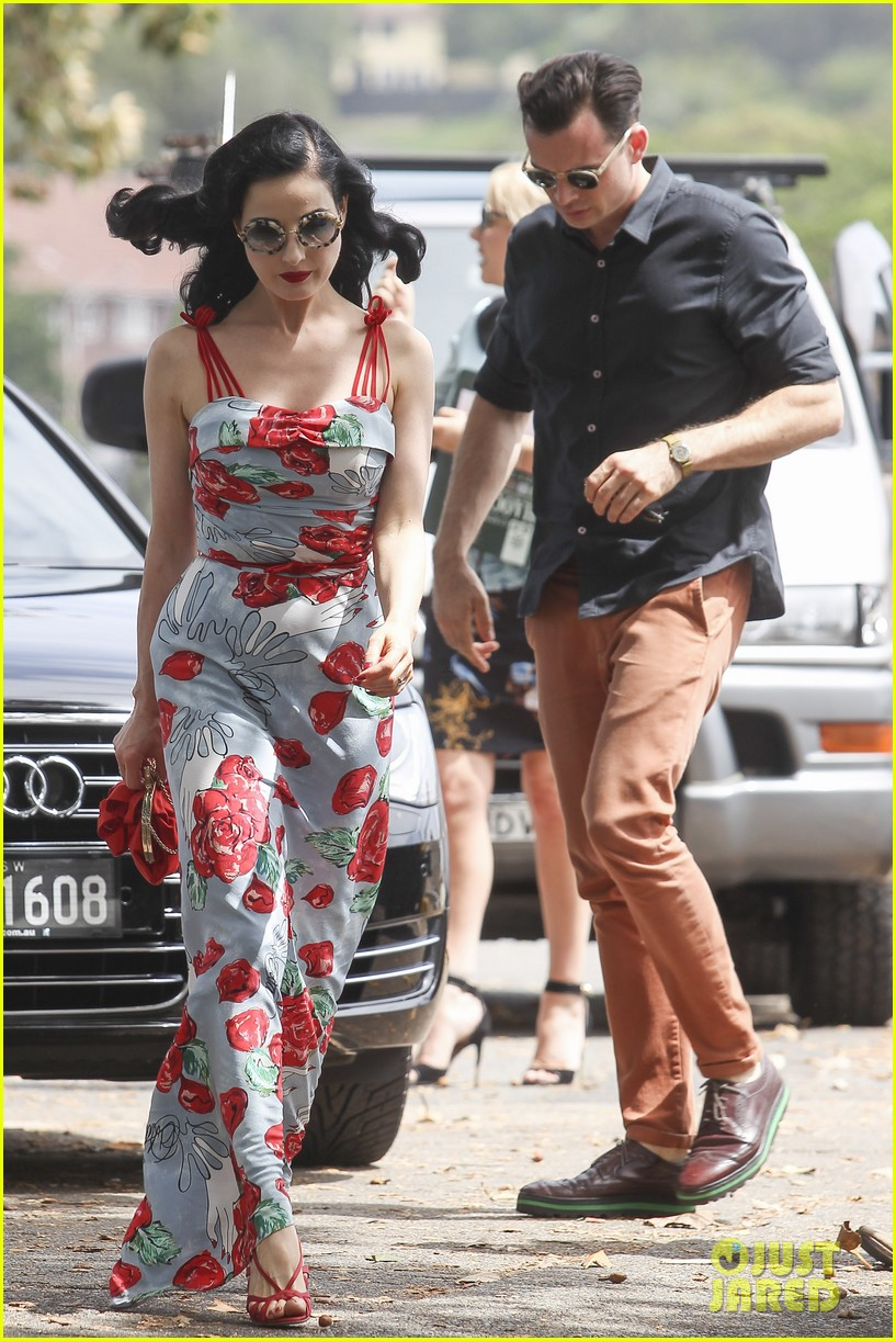 dita von teese catalina lunch with theo hutchcraft 132821077