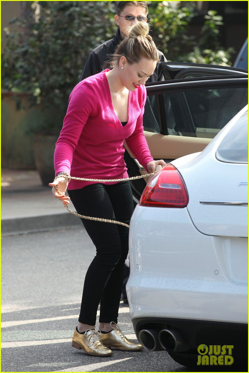 hilary duff fuschia is my color today 03