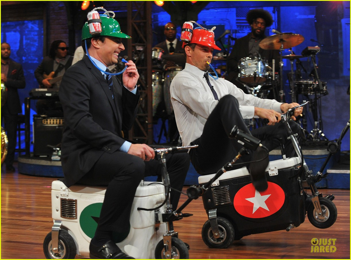 josh duhamel cooler races on fallon 09