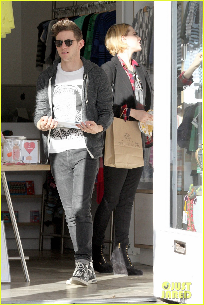 evan rachel wood jamie bell baby shopping 292802452