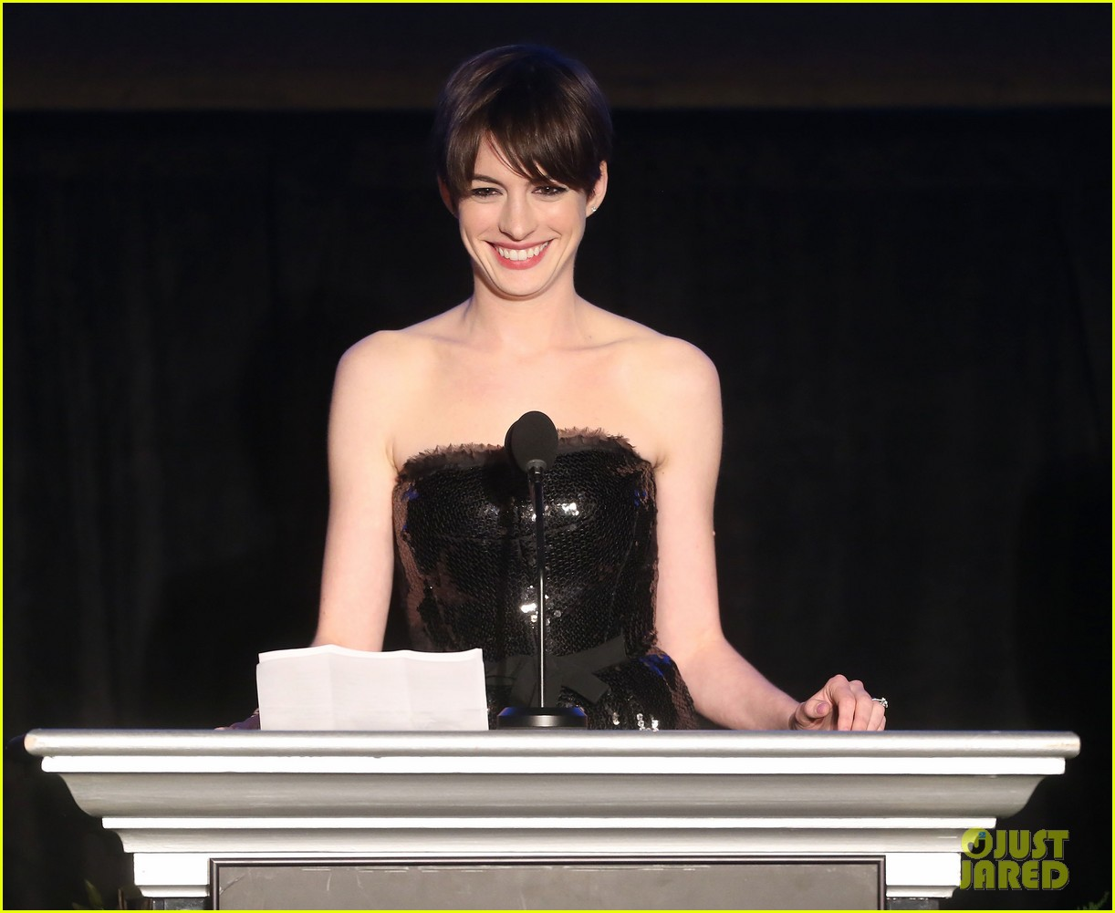 anne hathaway cinema audio society awards 2013 04