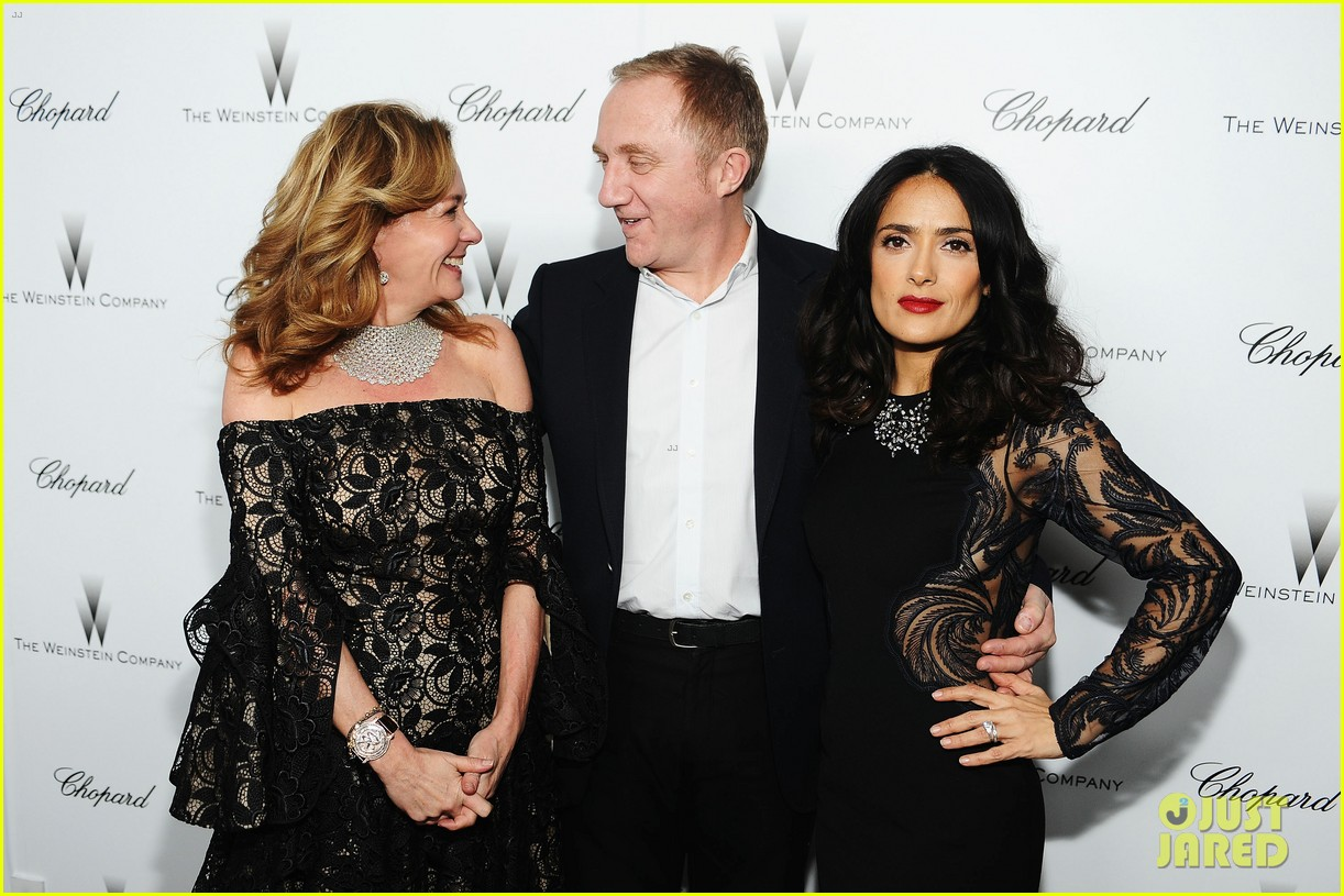 salma hayek weinstein pre oscars party 2013 02