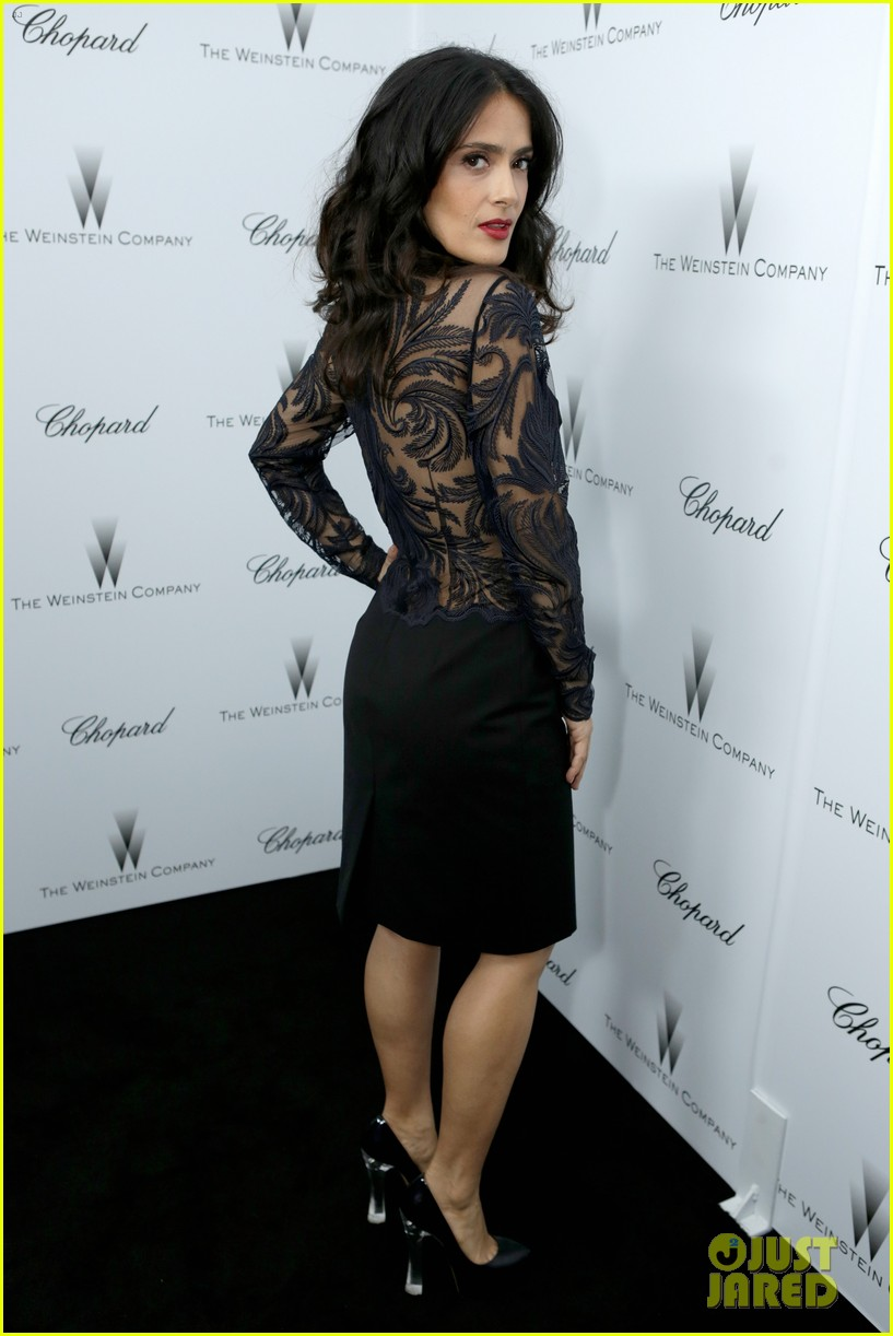 salma hayek weinstein pre oscars party 2013 11