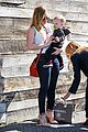 hilary duff mike comrie lax departure with luca 25