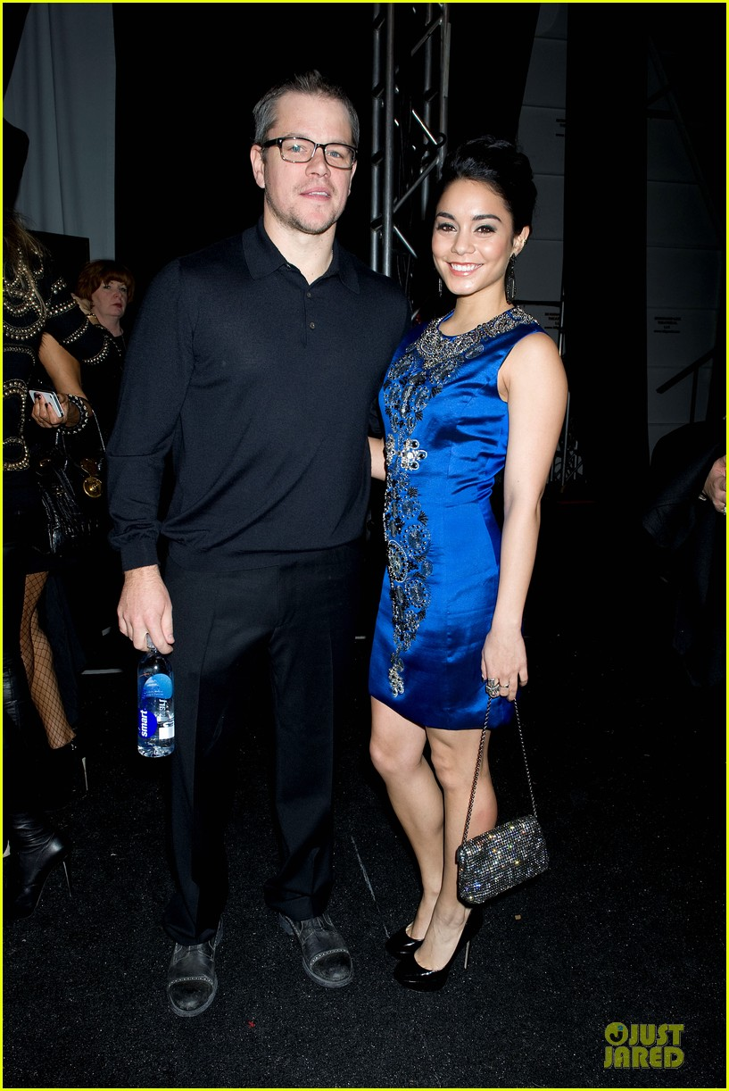 vanessa hudgens matt damon naeem khan fashion show 02