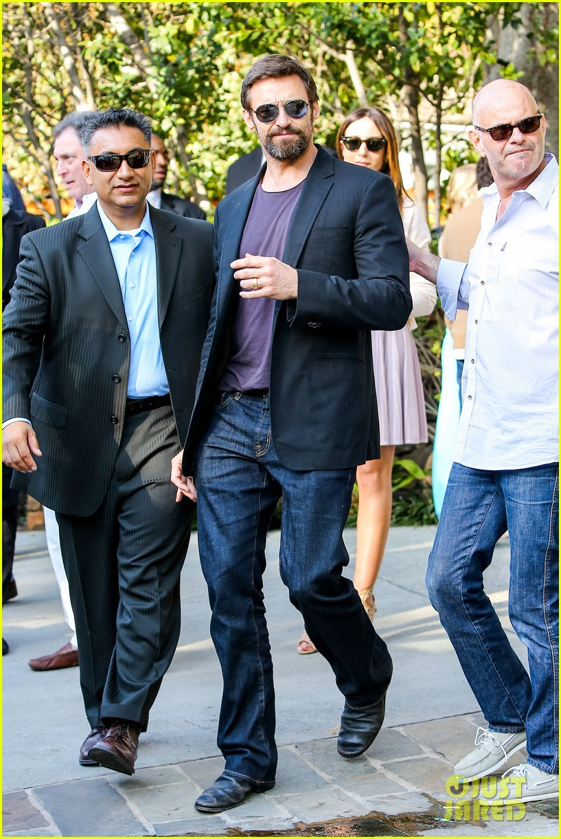 hugh jackman pre oscar party at coldwater canyon park 01