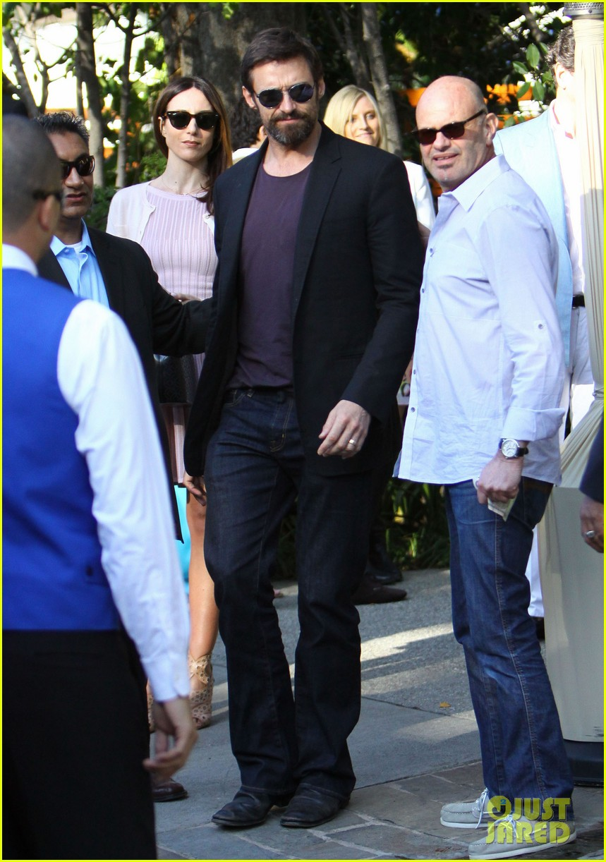 hugh jackman pre oscar party at coldwater canyon park 12
