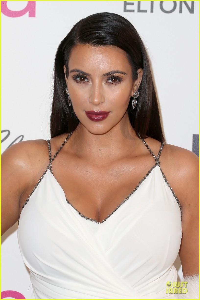 kim kardashian elton john oscars party 2013 04