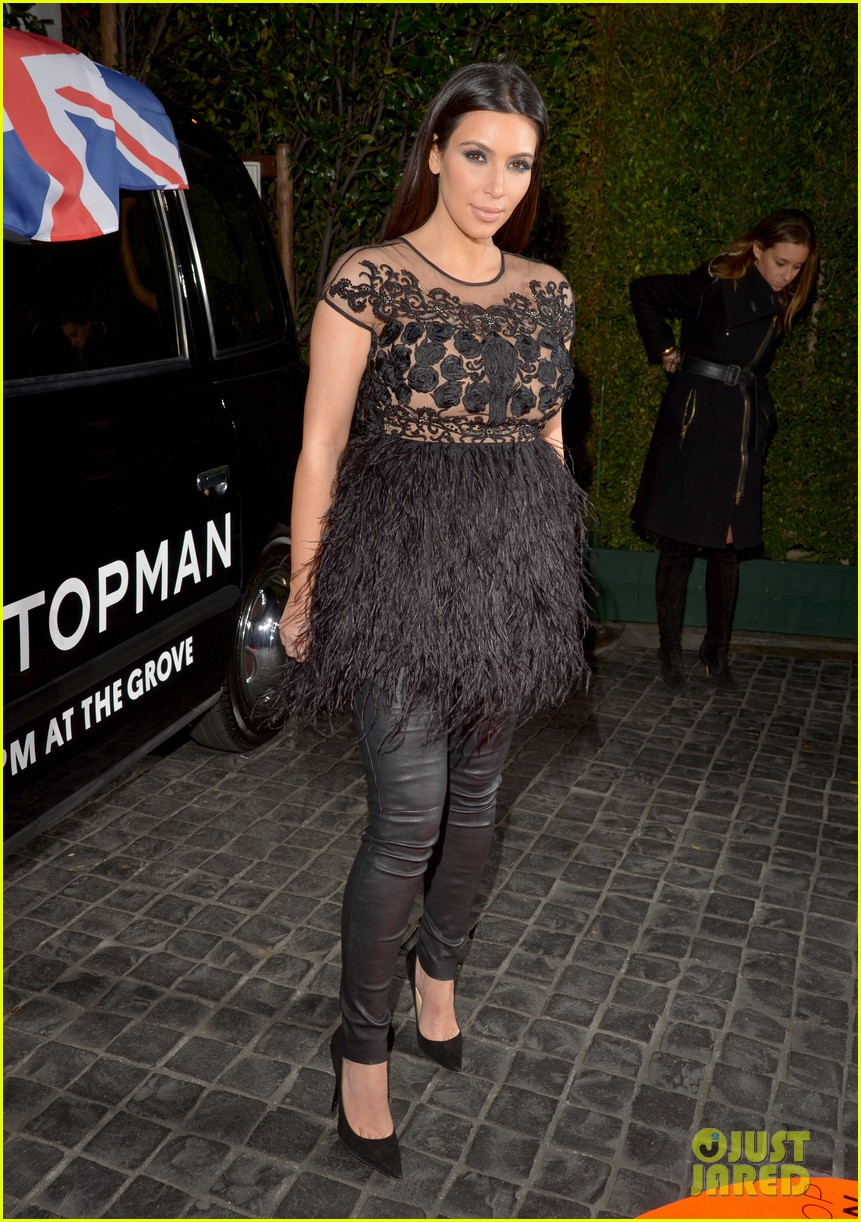 kim kardashian topshop topman opening party 09