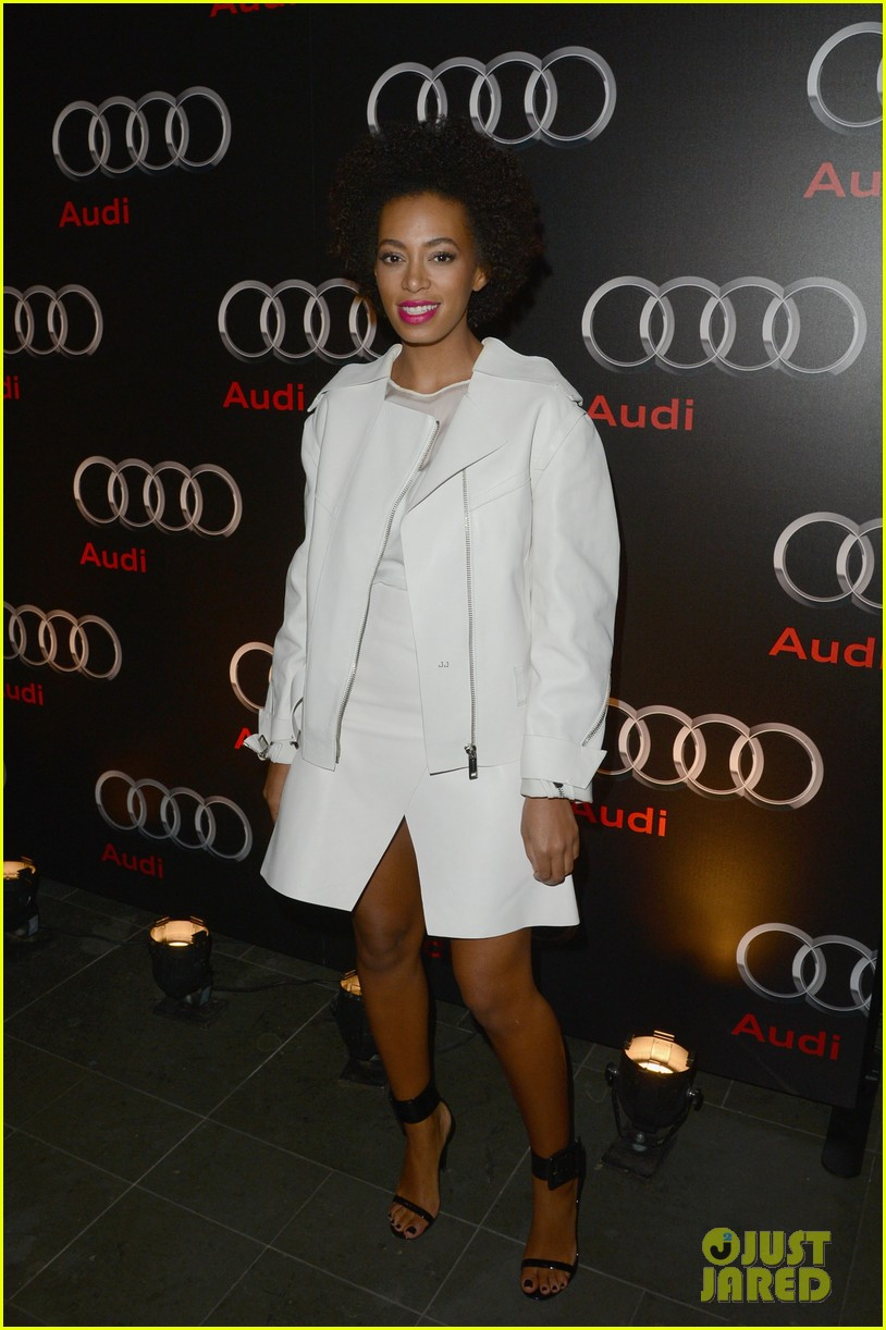 stacey keibler solange knowles audi super bowl party 142803962