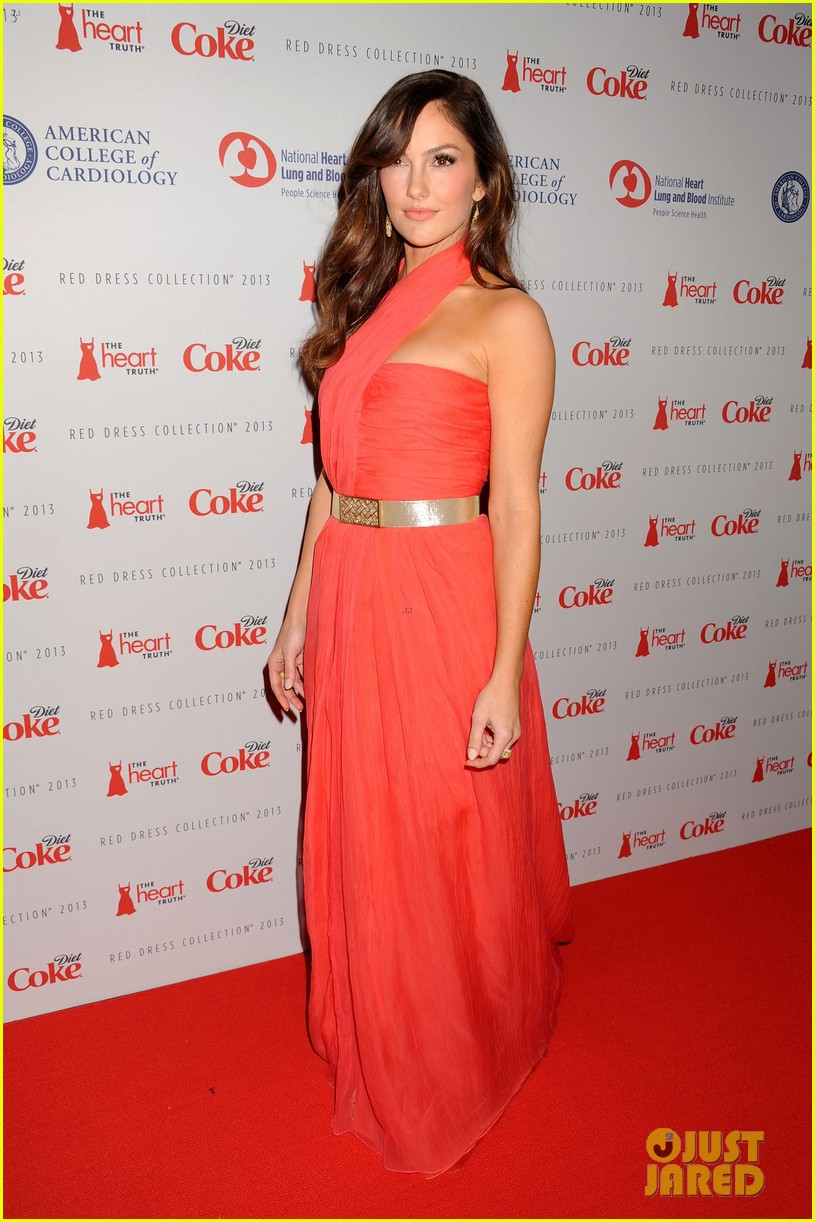 minka kelly heart truth red dress fashion show 2013 09