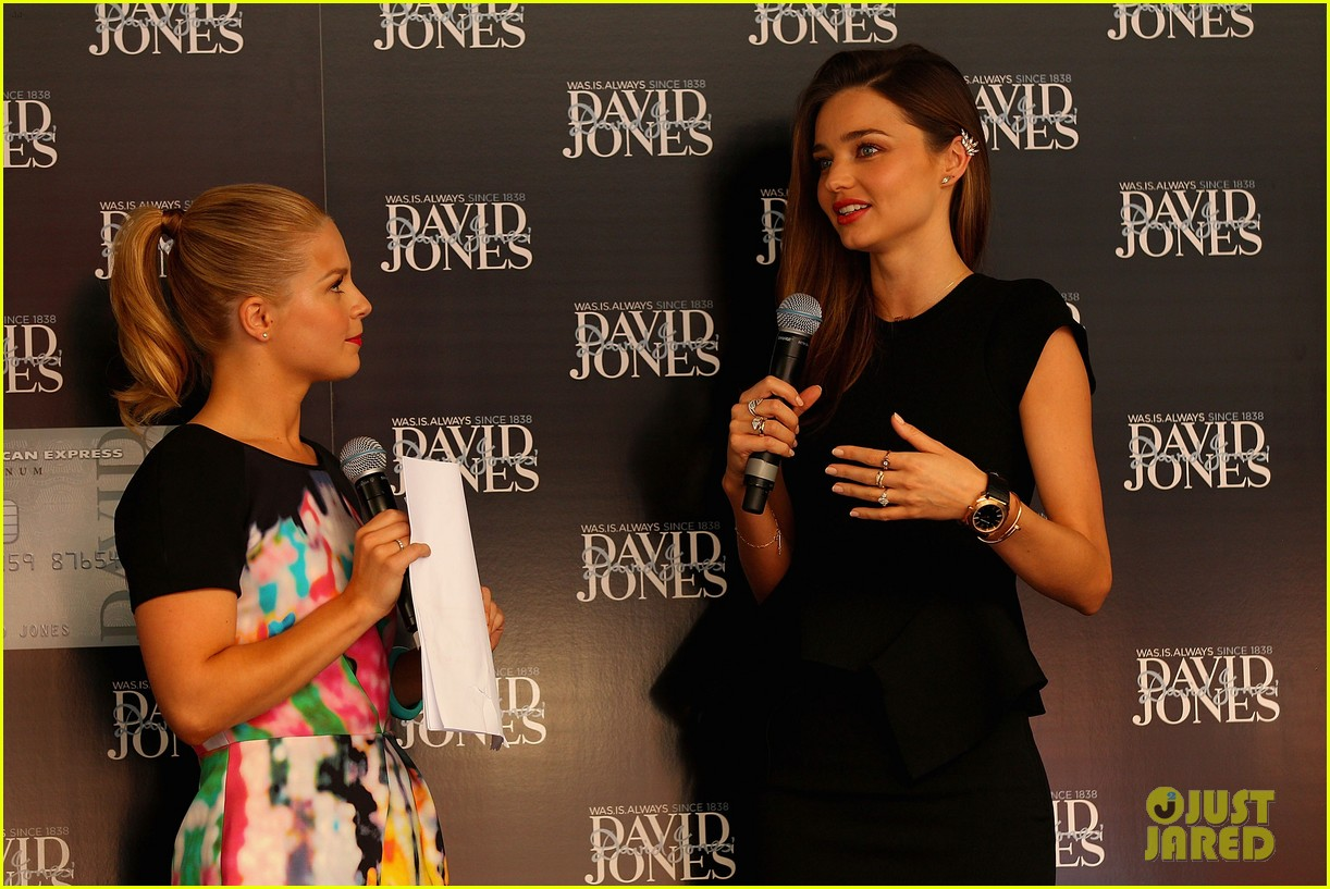 miranda kerr earcuff at david jones fashion workshop 12