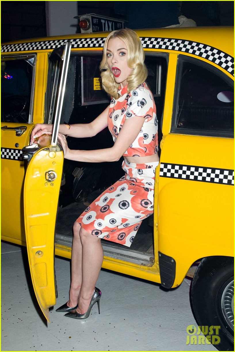jaime king taxi cab cutie at kate spade celebration 02