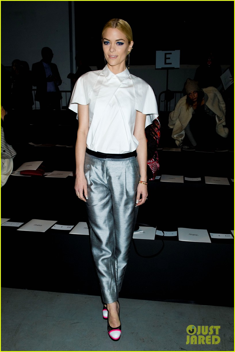 jaime king analeigh tipton neon shoes at prabal gurung 062808251