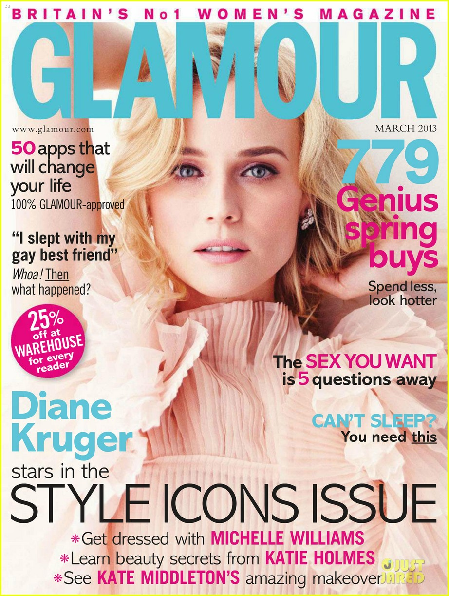 diane kruger covers glamour uk magazine march 2013 02