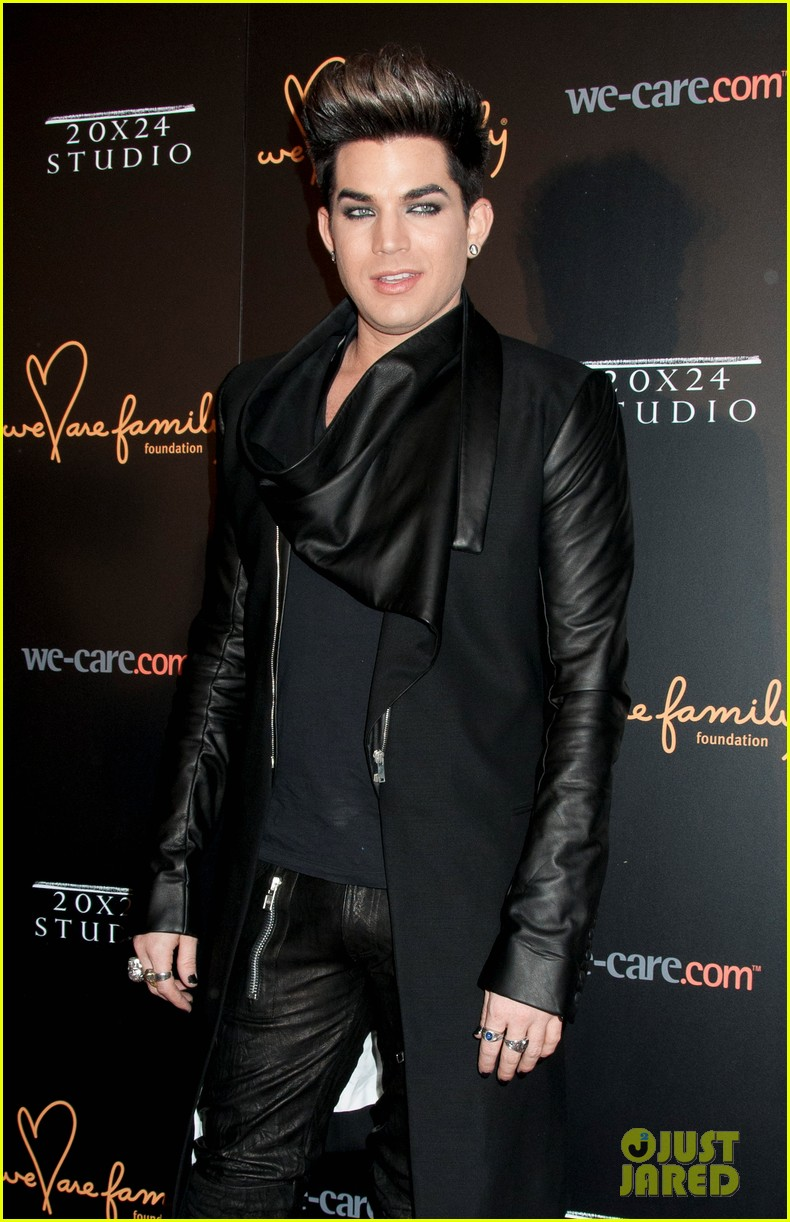 adam lambert we are family foundation gala 04