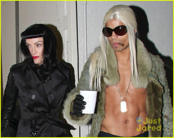 madonna kabbalah costume party with shirtless brahim zaibat 03