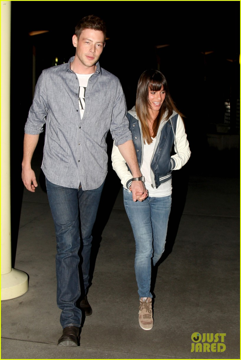full sized photo of lea michele cory monteith arclight