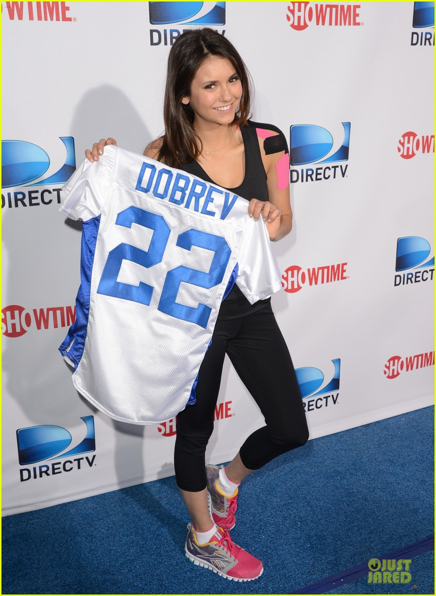 ian somerhalder nina dobrev celebrity beach bowl party couple 012803188