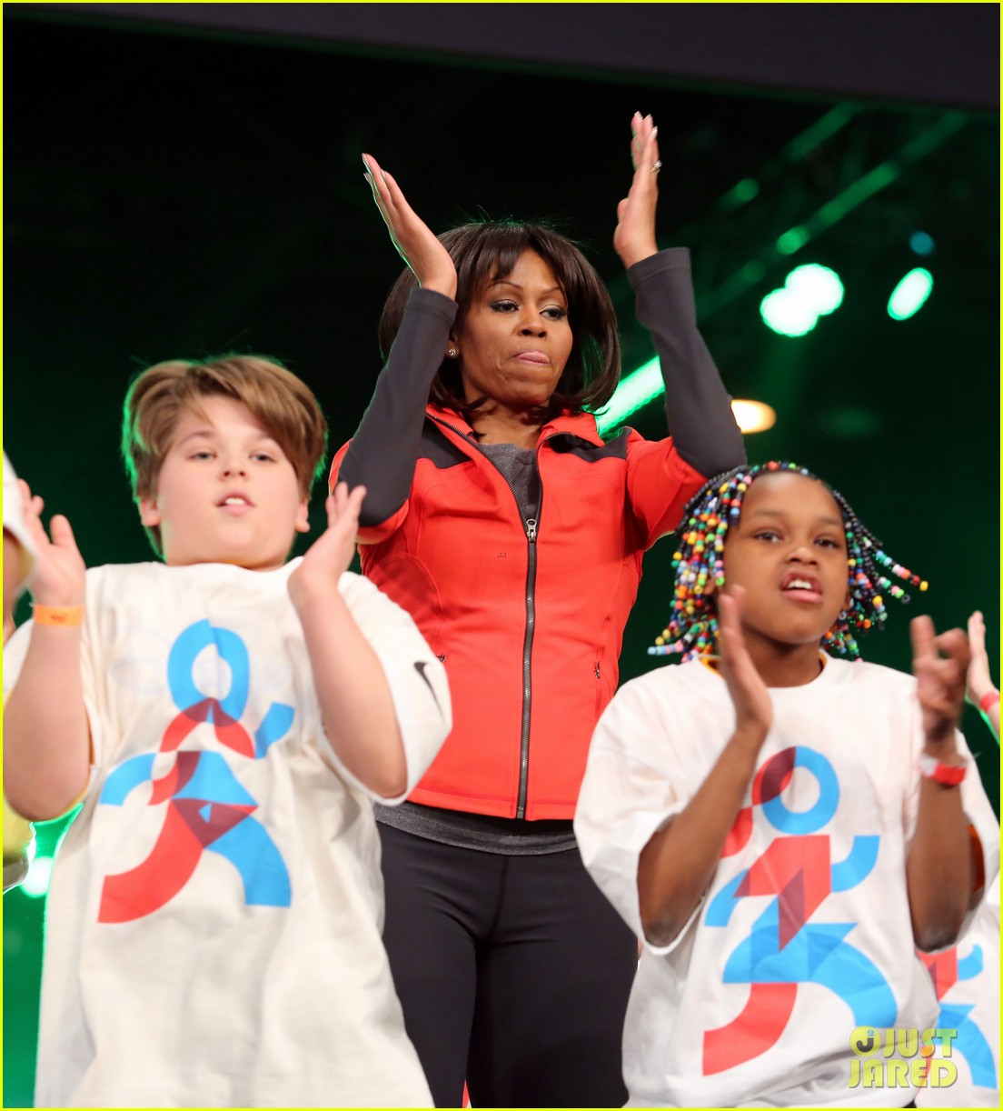 michelle obama school exercise program with jordin sparks 122822595