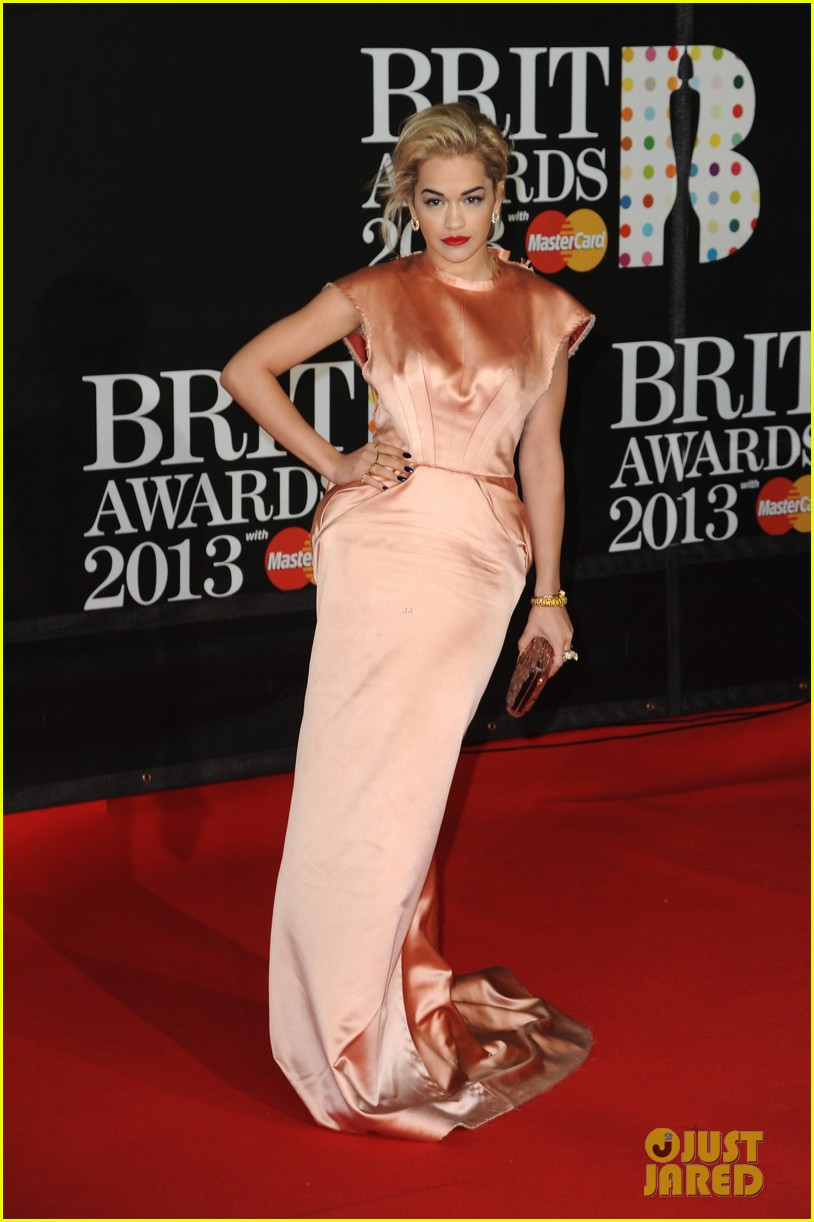rita ora brit awards 2013 red carpet 01