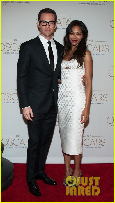 chris pine zoe saldana academy tech awards 2013 11