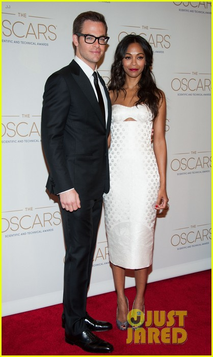 chris pine zoe saldana academy tech awards 2013 162808709