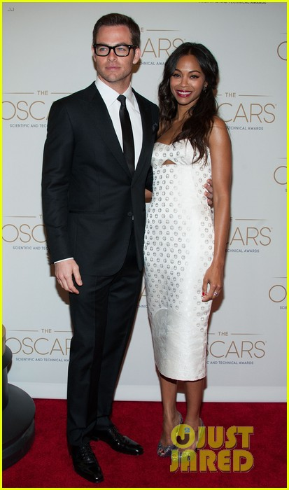 chris pine zoe saldana academy tech awards 2013 192808712