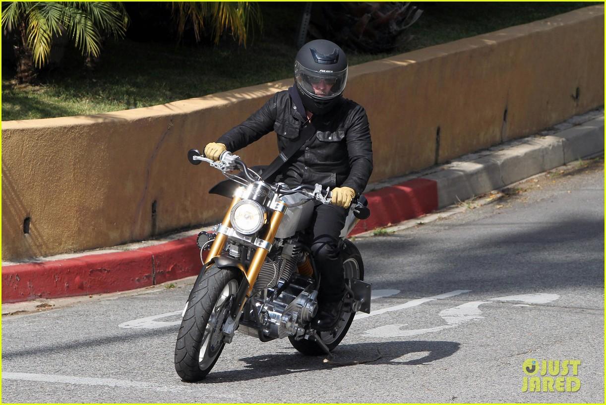 brad pitt rides his motorcycle shiloh zahara get froyo 132816579