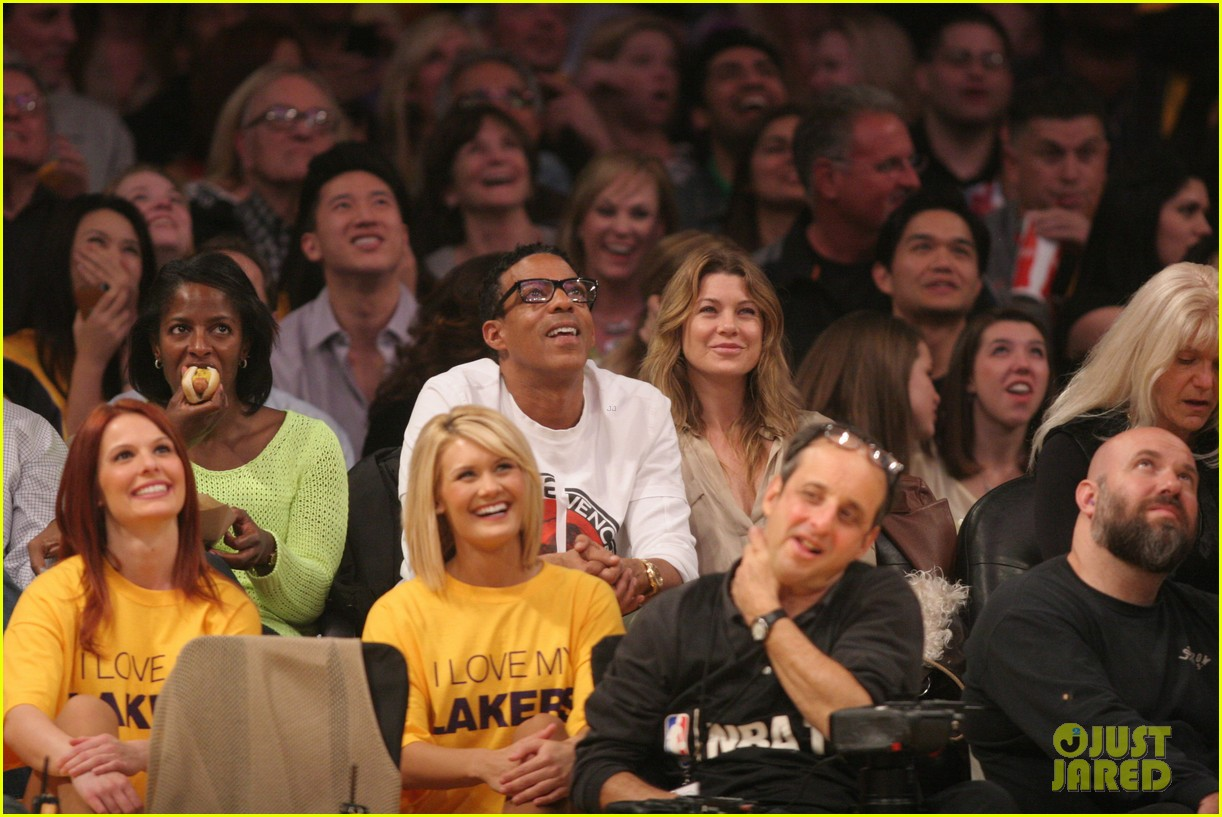 ellen pompeo valentines basketball with hubby chris ivery 02