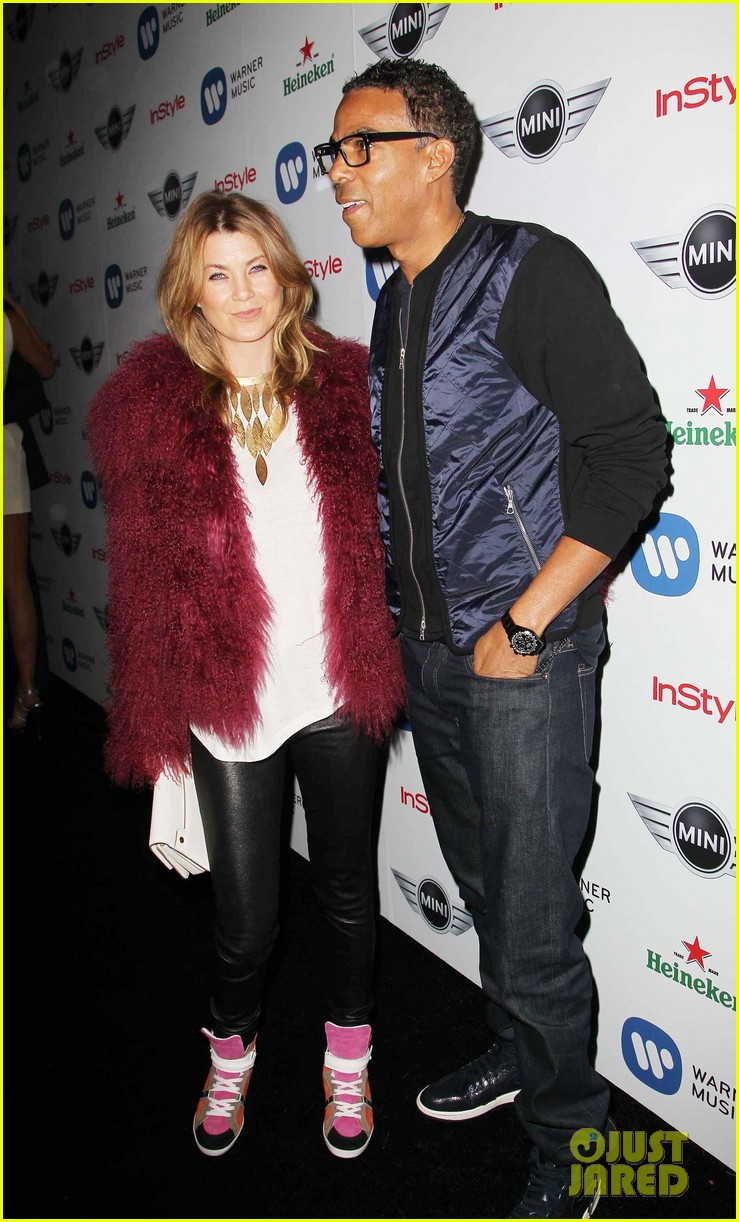 ellen pompeo julia stules warner music group grammys party 2013 11