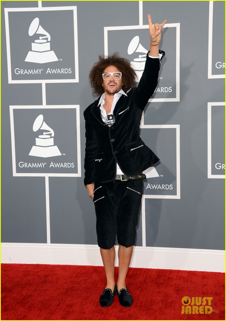 redfoo sean paul grammys 2013 red carpet 152809117