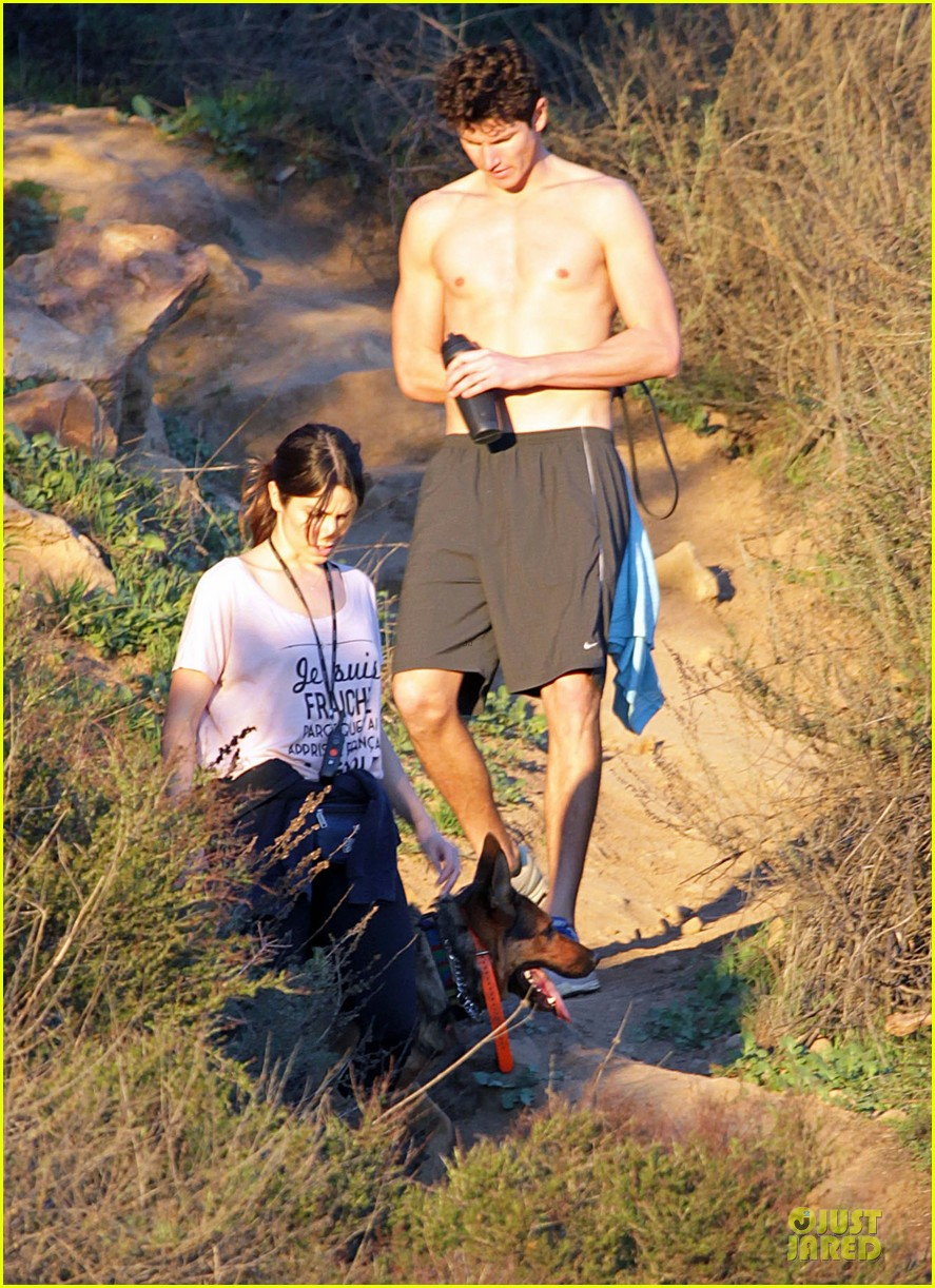 nikki reed super bowl hiking with shirtless brother nathan 082804938