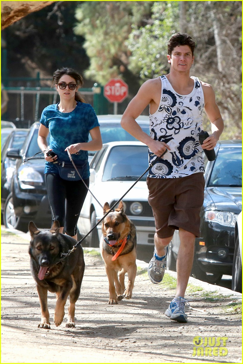 nikki reed dog run with brother nathan 02